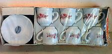 Vintage Arcopal Table France 6 Cup & Saucer Duos, Florentine, NIB (4809)