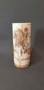 John Virando Former Briglin Potter Callander Studio Pottery Cylinder Vase