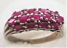 STERLING SILVER 925 STAMP Natural GEMSTONE RUBY  Ring Size 6.75