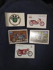 LOT of 5 Super Moto 1975 Panini Cards Stickers printed Italy PEUGEOT MOTO GUZZI