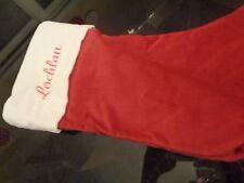 Pottery Barn Velvet stocking medium Christmas stocking mono Lochlan New