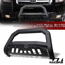 For 2006-2014 Honda Ridgeline Matte Black AVT Edge Bull Bar Brush Bumper Guard