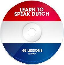 LEARN TO SPEAK BASIC DUTCH Language Phrases Words PDF ebook on CD