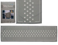 Lovely and Homely Grey With White Stars Tablerunner 40 x 140cm