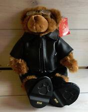 "A42 Build A Bear Centennial Teddy 3 Plush! W/ Tag 16"" Biker Boots Jacket Glasses"