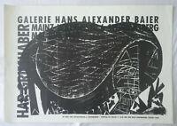 Plakat Poster - Ausstellung Hap Grieshaber - Mainz 1963