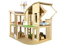 Plan Toys - Green Doll House with Furniture NEW * child role-play dollhouse