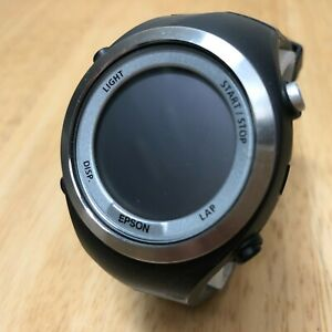 EPSON SF-710 Bluetooth GPS Fitness Tracker Sports Monitor Watch Hours~Untested