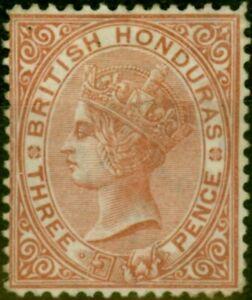 British Honduras 1877 3d Chestnut SG13 Fine Mtd Mint