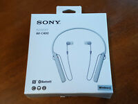Sony WI-C400/W Wireless Bluetooth Neckband Headphones w/Mic White #15 NEW