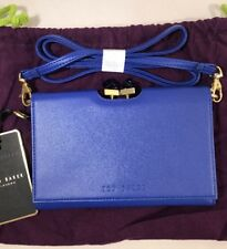 Ted Baker SQR Crystal Frame Xbody Purse Bright Blue RRP£119 Leather