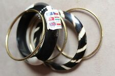 Bundle of 5 Bangles Bracelets New with Tags RRP £10 Jewellery