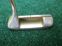 """Golf 24 Kt. Gold Plated Putter 35 1/4"""" Long Normal Use Plating Worn Off as Shown"""