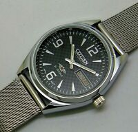 vintage citizen automatic men's steel japan made wrist watch looking nice