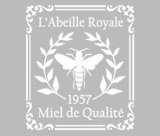 Pochoir Adhésif Réutilisable 25 x 20 cm Affiche Ancienne Abeille Royale