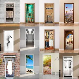 DIY Wrap Mural Scene Self Adhesive Home Decor Decal 3D Door Wall Fridge Sticker