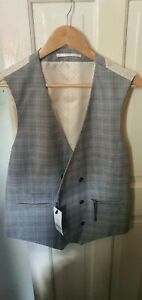Grey And Neutral Prince Of Wales Check waistcoat
