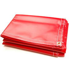 18oz Vinyl Coated Polyester - 4' x 10' - Red - New - In Stock