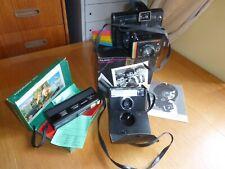 VINTAGE(X3) CAMERA BUNDLE. POLAROID,KODAK, HANIMEX. 1970'S/80'S BOXED. SEEM  OK