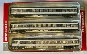 """Fleischmann 881903 - 3-piece set """"National Express"""", NX Rail Coaches Set"""