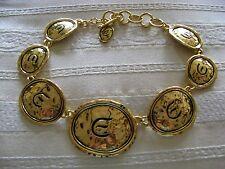 """MINT Vintage """"ELIZABETH TAYLOR""""  NECKLACE GOLD COAST RUNWAY HAMMERED"""