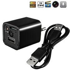 Mini HD 1080p Cámara USB Pared Enchufe Cargador Adaptador Espía Oculto