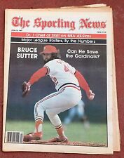 4-25-81 SPORTING NEWS BASEBALL  CARDINALS SUTTER ON THE COVER  FREE USA SHIPPING