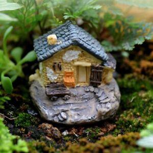 Miniatures Garden Decorations Fairy House for Gardens Mini Fairy Cottage House