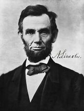 ABRAHAM LINCOLN - Repro-Autogramm 20x26cm Großfoto (16. US Präsident)
