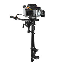 USA 4 Stroke 3.6HP Heavy Duty Outboard Motor Boat Engine w/Air Cooling System
