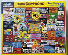 "White Mountain ""SATURDAY MORNING CARTOONS"" Puzzle 1000 Piece BRAND NEW #1481"