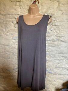 BNWOT grey jersey longline top  plus size 30 32