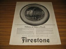 1921 Vintage Ad Firestone Cord Tires on Chicago Yellow Cabs Taxi's
