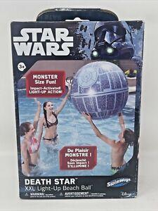 New SwimWays  Disney Star Wars Death Star XXL Light-Up Beach Ball Light Up