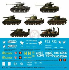 Peddinghaus 1/72 Sherman Tank Markings in Pacific and Europe WWII (7 tanks) 3214