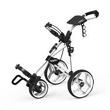 Clicgear Rovic RV3J Junior Push Golf Cart Kid Golfer Golf Pull Arctic White