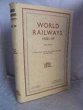 World Railways 1958-59 - Worldwide Survey of Railway Operation & Equipment HB DJ