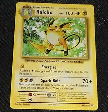 Raichu 36/108 XY Evolutions NONHOLO PROMO Pokemon Card NEAR MINT