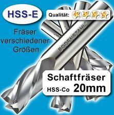 20mm Fräser L=110mm Z=4 HSS-Co Schaftfräser für Metall Kunststoff Holz etc