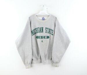 Vtg 90s Champion Mens XL Michigan State University Crew Team Issued Sweatshirt