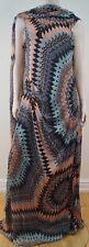 MATTHEW WILLIAMSON Mainline Geometric Print Silk Long Length  Evening Dress UK12