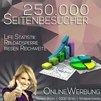 250.000 (250k) Besucher ツ premium Homepage Traffic Werbung ★ WerbeNetzwerke ★