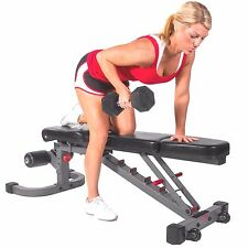Strencor Commercial Flat Incline Decline FID Adjustable Utility Gym WEIGHT BENCH