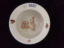 VINTAGE 1950s CERAMIC KEWPIE BABY BOWL MADE IN SLOVAKIA