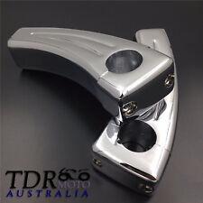"""Handlebar Chrome for Harley Davidson 4.5"""" 5"""" Pull Back Riser Set Suzuki Honda"""