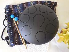 "Holiday gift 10"" Steel Tongue Drum/Tank Drum FREE Bag & 2 sticks Healing sound"