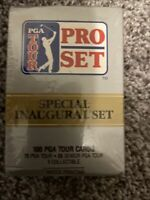 Vintage 1990 PGA Pro Set Limited Special Inaugural Set Golf Cards Factory Sealed