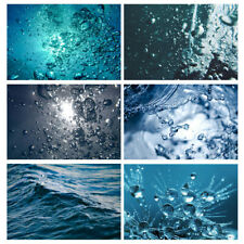 Blue Water Drops Bubble Photography Backdrop Background Photo Art Cloth Props