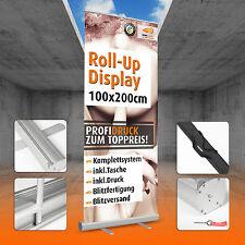 ROLL UP DISPLAY inkl. DRUCK 100x200cm * Banner * inkl. TASCHE * Blitzversand