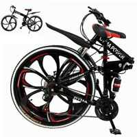 Outroad Mountain Bike 21 Speed 26 inch Folding Bike Double Disc Brake Bicycles P